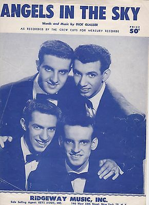 Crew Cuts Angels In The Sky  US  Sheet Music