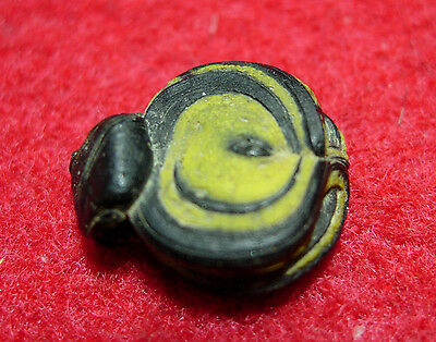 14.5mm  Ancient Roman or Early Islamic Folded Glass Bead 1800++y. o #IS014