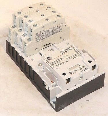 New GE CR463L51AJA 6 pole 5NO1NC 120v Electrically Held Lighting Contactor
