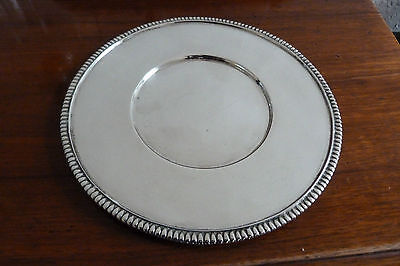 RARE TIFFANY HM SOLID SILVER BOTTLE COASTER/DISH BY WAKELY & WHEELER- 1919 -210g