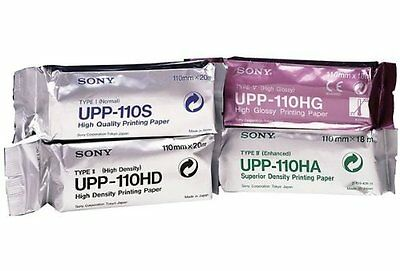 Sony UPP110HD Thermal Paper Medical High Density Superior Density Black white