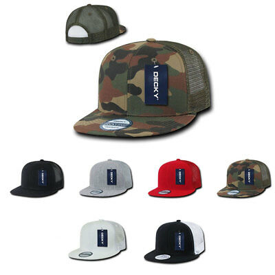 1 Dozen Flat Bill Trucker Baseball 6 Panel Caps Hats Camo Two Tone Wholesale