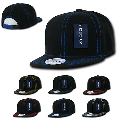 1 Dozen Decky Retro Contra Stitch Flat Bill Baseball Cap Caps Hat Hats WHOLESALE