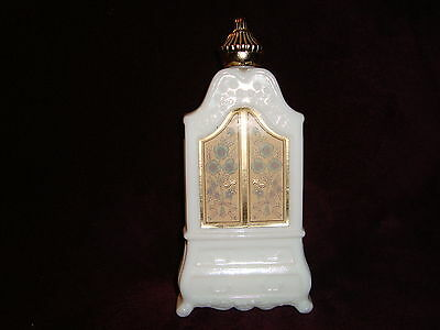 "Vintage Milk Glass Avon Armoire Empty Bottle 6.5"" tall"
