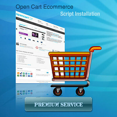 Low Cost Opencart Ecommerce Shopping Cart - Same Day Installation Service