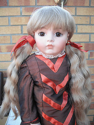 Dolls Wig Adele  Bunches With Fringe Choice Blonde / Dk Brown