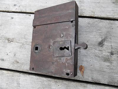 Antique Vintage European German Heavy Duty Lock Circa 1900s FREE UK P&P