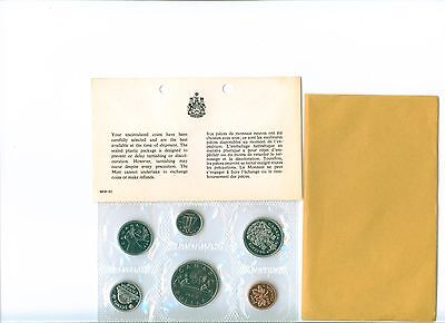 1969 CANADA Proof Like Set  Uncirculated with COA and envelope as issued PL