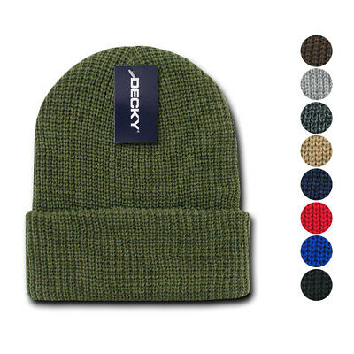 10cbf46431a Decky Beanies GI Watch Cap Hat Ski Military Warm Winter Unisex Mens Womens  Youth