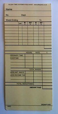 Clocking in Time Recorder Attendance Cards -106931/suitable for 'UT-2000 series'