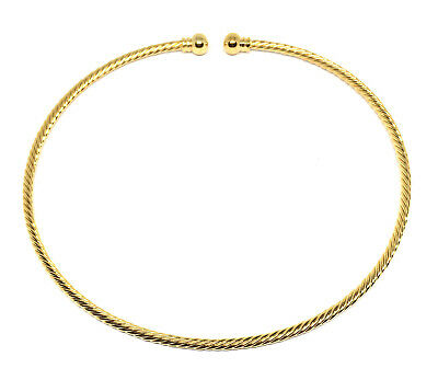 2 gold plated twisted beadable jewelry neckwire necklace choker base