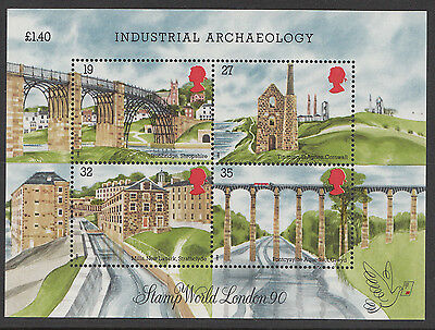 GB 1989 Industrial Archaeology MS1444 Mini / Miniature Sheet  Unmounted Mint