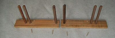 """2 Large UTILITY  HANGERS--10"""" Long Rods-Hoses-Electric Cords-Tools-Hats-Clothes"""