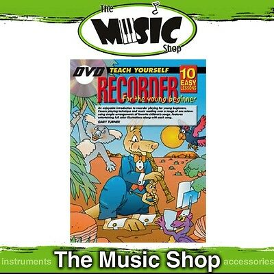 New 10 Easy Lessons Teach Yourself Recorder for Young Beginners Book & DVD