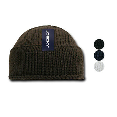 c4f37228353b1e Decky Sailor Navy Fisherman Beanie Beanies Warm Winter Thick Knitted Acrylic
