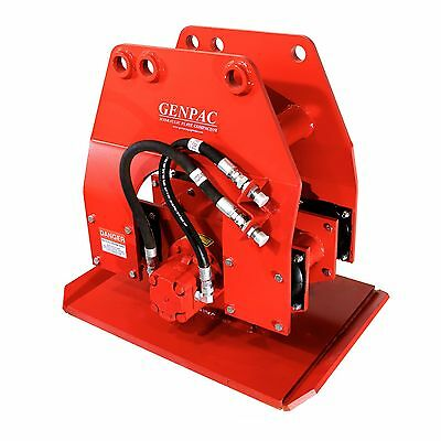 "Hydraulic Plate Compactor / Driver 24"" x 36"" for 15,000-37,000lbs Excavators NEW"