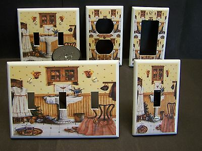 Victorian Bathroom With Vintage Sink Light Switch Or Outlet Cover V398