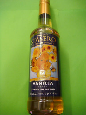 VANILLA 750ml COFFEE-FLAVOURING SYRUP and COCKTAIL-FLAVOURING BOTTLE BRAND-NEW