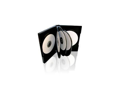 1 x 10 Way Amaray CD/DVD Soft Plastic Case With Black Tray Holds 10 Discs Pack 1