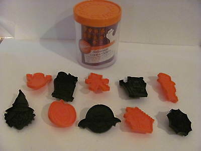 Wilton Halloween Cookie Cutters Set of 10 from 1989 Complete Ghost Skeleton +