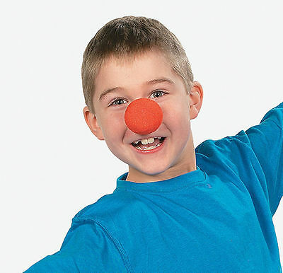 12 CLOWN NOSES Costume accessory HALLOWEEN Circus Carnival Birthday Party FAVOR