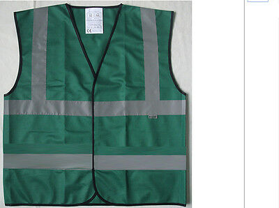 Reflective Vest Bottle Green HiViz Vis Hen Night Walking Workwear Sports