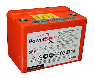 HAWKER POWERSAFE SBS 8 Reinblei AGM Batterie NEU & TOP!