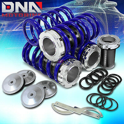"90-97 Miata 1-4"" Drop Suspension Black Scale Coilover Blue Lowering Spring Drop"
