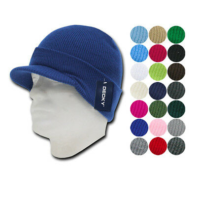 1 Dozen Decky Winter Beanies GI Jeep Caps Hats Visor Ski Wholesale Bulk Lot