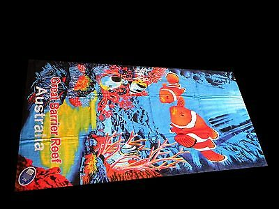 Australian Souvenir Australia Great Barrier Reef Cotton Beach Towel Clown Fish