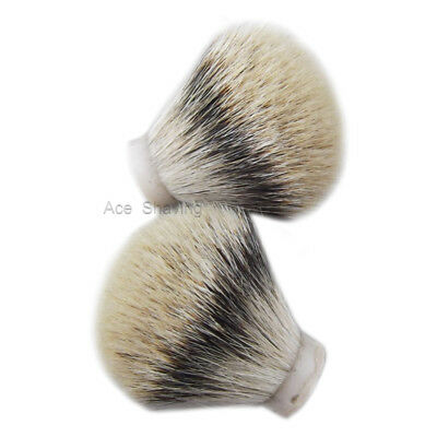 2 Pieces of small Silvertip Badger Hair Shaving Brush Knot Zize 20mm Loft 50mm