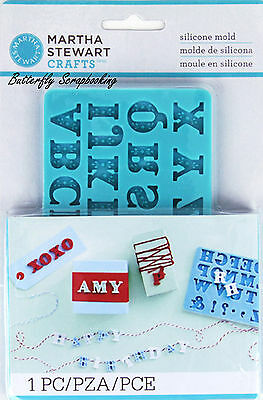 Alphabet Mold for Crafters Clay Martha Stewart Crafts Paper Crafting NEW
