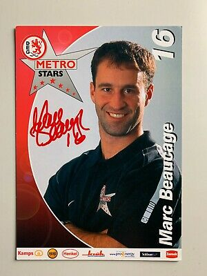 Carte Hockey Deg Metro Stars - Marc Beaucage / Signe
