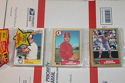 1987 Topps Rack  Baseball Packs!! Vintage unopened Lot.
