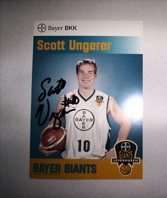 Carte Basket - Giants Leverkusen - Scott Ungerer / Signe