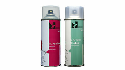 Spray VW-Audi LY7W Silbersee-Lichtsilber Basis-+Klarlack (2x400ml Set)