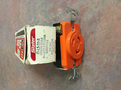 IG-L5-20-R Slater 20A 125V Isolated Ground Receptacle NIB
