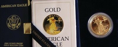 1986-W~~U.S. MINT~~$50 GOLD PROOF AMERICAN EAGLE~~OGP~~1st YEAR ISSUE