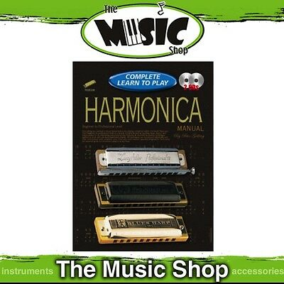 Progressive Complete Learn to Play Harmonica Manual - 184 Page Book with 2 CDs