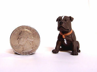 "NEW 1.5"" Brown Mastiff Dog Puppy Figure Figurine Hood Hounds Homies"