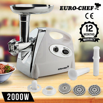 NEW Euro-Chef Electric Meat Grinder Sausage Maker Filler Mincer Kibbe Stuffer