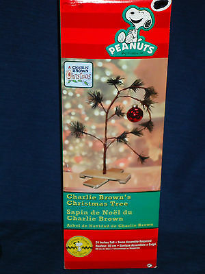 "24"" Peanuts CHARLIE BROWN CHRISTMAS TREE mint in Box"