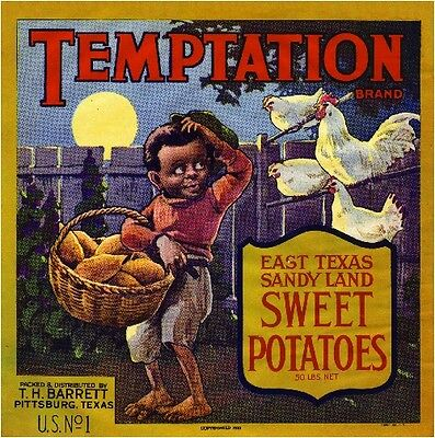 Pittsburg Texas Temptation Sweet Potato Yams Vegetable Crate Label Art Print