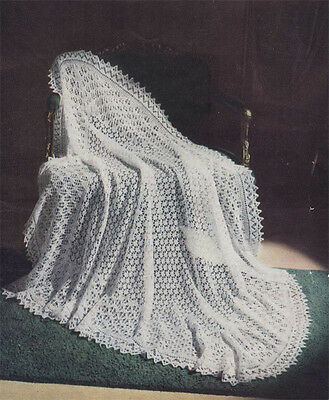 Lovely old Vintage knitting pattern for a baby 3 ply shawl- knitting pattern