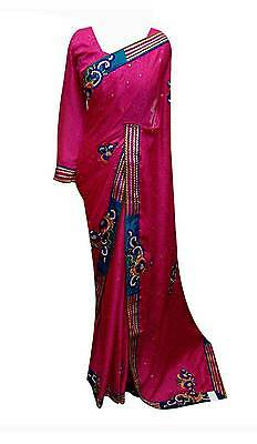 Women's Indian sari Stitched Blouse Bollywood party wear designer sarees UK 7010