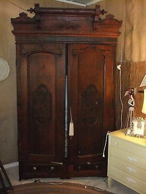 armoire 1800's antique walnut chifarobe