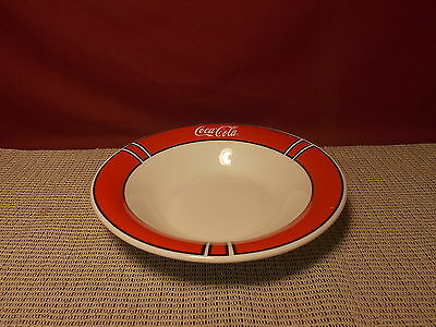 Gibson China Coca Cola Pattern Soup Bowl