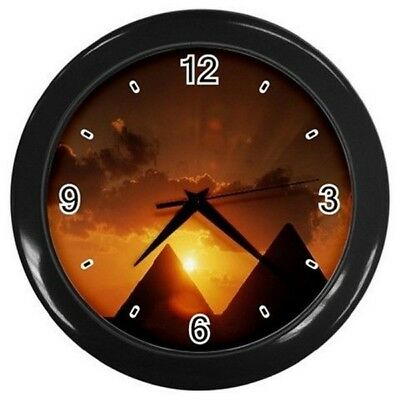 New Pyramid Egyptian Hanging Wall Clock Bedroom Lounge Home Decor Office