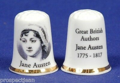 Great British Authors - Jane Austen 1775-1817 China Thimble B/100