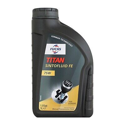 Fuchs TITAN SINTOFLUID FE SAE 75W Synthetic Manual Transmission Oil 1 Litre 1L